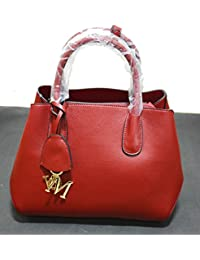 Devwebzone Woman Official Casual Leather Handbag (Maroon)