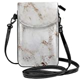 Liliylove Artico Marble Rose Gold Accents - Piccola borsa a tracolla leggera per cellulare da donna e ragazza, con pratico trasporto