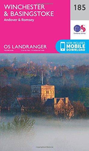 landranger-185-winchester-basingstoke-andover-romsey-os-landranger-map