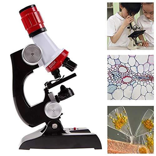 Hilai Wissenschaft für Kinder Mikroskop Kits Start Mikroskop-Sets mit LED 100 X 400 X und eine...