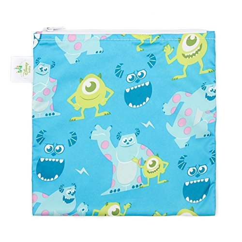 Inc Baby Monsters (Bumkins Disney Baby wiederverwendbar Snack Tasche groß, Monsters Blue,)