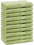 10er Pack Gästehandtücher Gästetuch Premium Größe 30x50 cm 100% Baumwolle Farbe apfel Grün