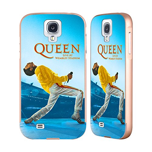 Ufficiale Queen Freddie Mercury Live At Wembley Arte Chiave Oro Cover Contorno con Bumper in Alluminio per Samsung Galaxy S4 I9500