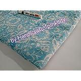 Handicraftofpinkcity 5 meter Indian hand block Print cotton Indigo Blue Dabu Fabric Craft sun flowe