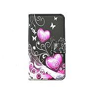Cozy Hut Custodia Sony Xperia E4, Sony Xperia E4 Cover, Sony Xperia E4 Flip Cover, Disegno di Stampa Disegno della Love Hearts di stile del Libro Portafoglio Custodia in PU Cuoio, Elegant Flip Protettivo Wallet Caso Copertina con Funzione di Supporto per Sony Xperia E4 - Love Hearts