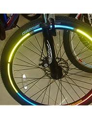 Moppi 10 X bicicleta de la bici que refleja llanta material de etiquetas de pegatina