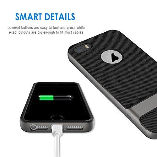 JETech Cover Compatibile iPhone SE (2016 Modello) / 5s / 5, Custodia con Assorbimento degli Urti e Fibra di Carbonio…
