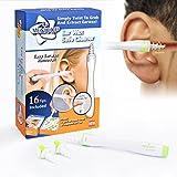 Nettoyeur d'Oreilles, Kit d'enlèvement de cire d'oreille, nettoyant à cire d'oreille, cire d'épilation en spirale doux avec 16 têtes de remplacement en silicone jetables améliorées pour bébé, hygiène de l'oreille familiale + bouchons d'oreille de réduction de bruit bonus (vert) par MEXITOP