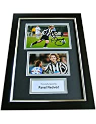 860ee5d8572 Sportagraphs PAVEL NEDVED Signed A4 FRAMED Photo Autograph Display JUVENTUS  Football   COA PERFECT GIFT