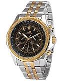 KS Automatikuhr XL Herren Uhr goldene Automatik Mechanik Uhr Armbanduhr