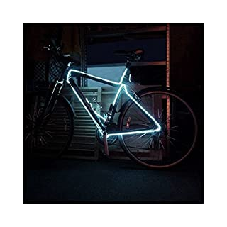 EL Wire Bike frame tunning 3M 3 Meter Tube Rope Battery Powered Flexible Electroluminescent Neon Light (White)