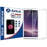 AVICA™ Full Edge To Edge WHITE 3D Curved Tempered Glass Screen Protector For Vivo V7 Plus