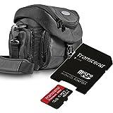 Bundlestar Kit contenant une pochette Mantona Premium System Noir + Carte mémoire SDHC 16 Go UHS-I Classe 10