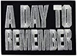 A day To Remember White on Black Embroidered Badge Patch Sew-on or Iron-on 9cm