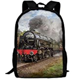 best& Steam Train Scottish School Rucksack College Bookbag Unisex Travel Backpack Laptop Bag