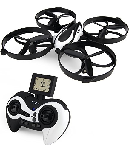 TOZO-Q2020-Drone-RC-Quadcopter-Altitudine-Tenere-senza-testa-RTF-3D-360-gradi-Flips-Rolls-6-Axis-Gyro-4CH-24Ghz-telecomando-Elicottero-Altezza-Hold-Holder-Super-Easy-Fly-per-lallenamento-Nero