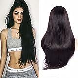 Maxine Hair 9A gerade Lace Front Perücken Echthaar mit Baby Haar pre-plucked 180% Dichte brasilianisches gerade Perücke Virgin Hair Lace Front Perücke für Frauen