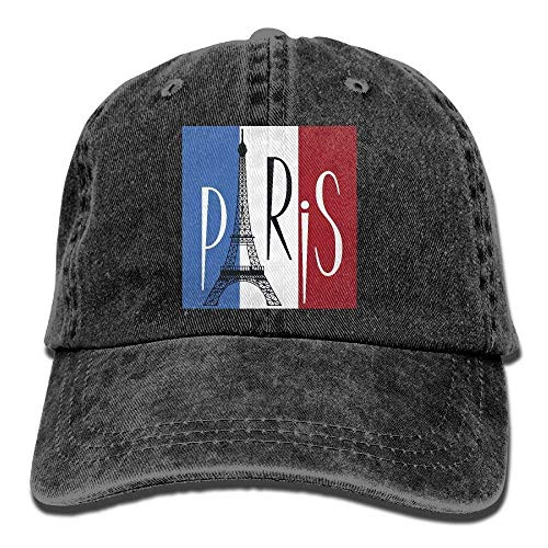 9b9c59fa uykjuykj 2018 Adult Fashion Cotton Denim Baseball Cap Eiffel Tower Over  Flag of France Classic Dad
