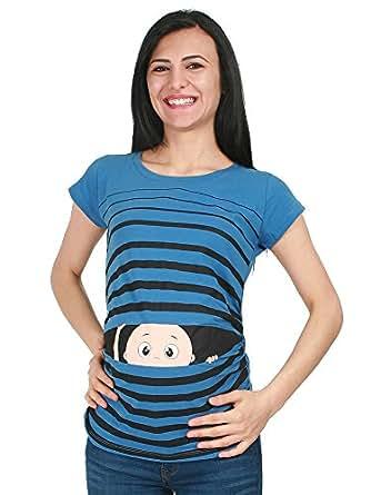 Verkauft von Mamimode Witzige süße Umstandsmode T-Shirt mit Motiv Schwangerschaft Geschenk – Kurzarm T-Shirts