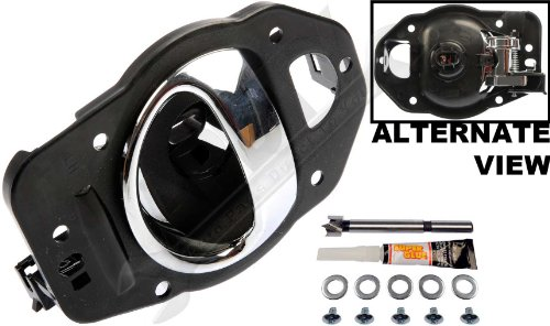 APDTY 91470 Interior Door Handle Replacement Kit Fits Left Driver-Side Front Or Rear For 2006-2010 Chevy HHR Chrome (Fix For GM Door Panel 19299614, 25812196) by