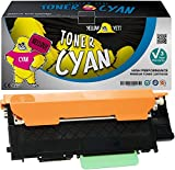 Yellow Yeti CLT-C404S Cyan 1000 Pages Toner Compatible pour Samsung Xpress SL-C430 C430W SL-C480 C480FN C480FW C480W [Garantie de 3 Ans]