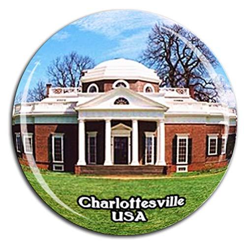 Weekino Monticello Charlottesville Amerika USA Kühlschrankmagnet 3D Kristallglas Tourist City Travel Souvenir Collection Geschenk Strong Refrigerator Sticker