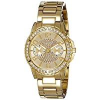 Guess Womens Quartz Watch, Analog Display and Stainless Steel Strap W0705L2