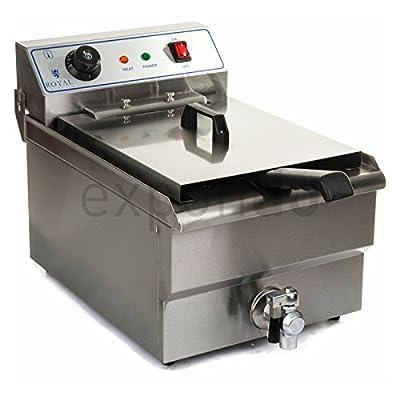 Royal Catering - RCSF-16ETH - Friteuse électrique de 1x16 litres - 100 % acier inox - 6000 W