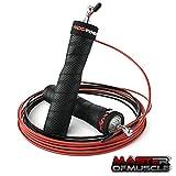 Master of Muscle Das Profi-Springseil - Speed Jump Rope für Erwachsene - für Boxen, Fitness - mit Rutschfesten Griffen, Kugellager, 2 Stahlseilen zum Seilspringen - Trainingsguide gratis