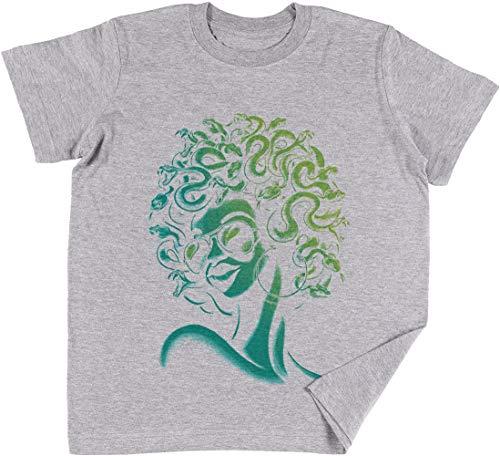 Irre Meduse Kinder Jungen Mädchen Unisex T-Shirt Grau