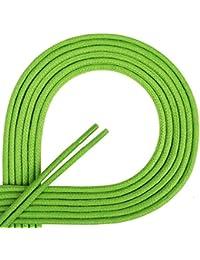Cordones Di Ficchiano de gran calidad, cordones redondos encerados para zapatos de empresa, traje y de cuero, diámetro 2–3mm, longitudes 45–120cm, resistentes, Unisex, verde hierba, 80 cm