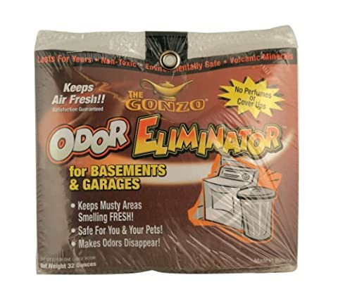 Gonzo Odor Eliminator For Basements and Garages, 32 Ounce (Pack of 2) by Gonzo
