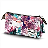 PRODG Prodg Triple Pencil Case Tropic Astuccio, 23 cm, Multicolore (Multicolored)