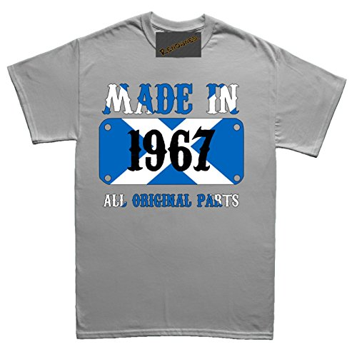 Renowned Made in Scotland in 1967 all original parts Unisex - Kinder T Shirt Grau