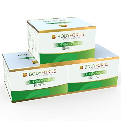 BodyFokus ArthroKraft Revital - Glucosamin + Chondroitin Komplex - 3 Packungen