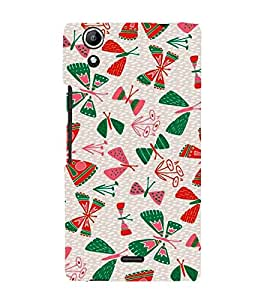 Fiobs Designer Back Case Cover for Micromax Canvas Selfie Lens Q345 (Natural Nature Butterfly Beautiful Leaves)