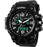 #5: SKMEI Large Dial Shock Outdoor Sports Watches Men Digital LED 50M Waterproof Military Army Watch Alarm Chrono Wristwatches 1155