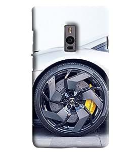 Blue Throat Car Wheel Printed Designer Back Cover/Case For OnePlus 2