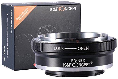 K&F Concept FD-NEX Objektivadapter kompatibel mit Sony NEX Alpha E-Mount Adapter | Adapterring Kamera Ring Objektiv Canon FD (Cannon Objektiv-adapter)