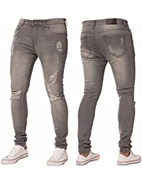 New Mens Skinny Jeans Ez383 Super Stretch Ripped Style Denim Pants Trousers cff1c24667