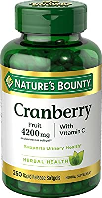 Nature's Bounty, Triple Strength Cranberry, Plus Vitamin C, 250 Softgels from Nature's Bounty