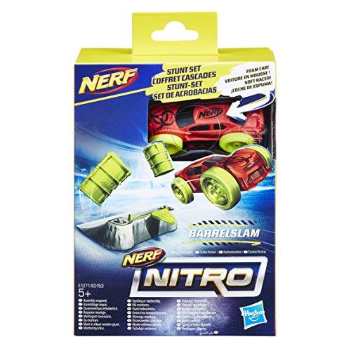 Nerf Nitro- Nitro Barrel Slam Stunt Set Coche Y Accesorio Surtido, (Hasbro E0153EU4)