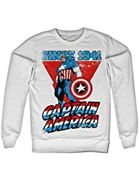 Captain America Since 1941 Sweatshirt (Blanc)