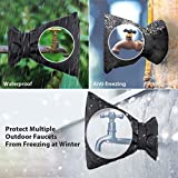 Tvird 2 Pcs Outside Tap Covers For the Winter, Outdoor Garden Tap Protector From Frost - Protect Your Outside Garden Tap From Freezing(black)