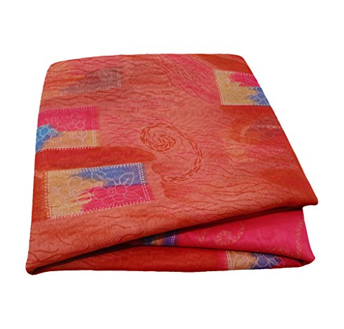 Silk-blend-vorhänge (Weinlese-Art-Sari-Pfirsich-Vorhang-Drape-Kunst-Dekor DIY Material Silk Blend Blumenmuster Blue Sari)