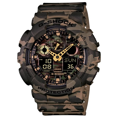 Casio G-Shock Analog-Digital Green Dial Men's Watch-GA-100CM-5ADR (G580)