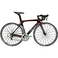 BEIOU® 2016 700C Route Shimano 105 Bike 5800 11S Vélo de course T800-M40 en fibre de carbone Aero cadre 18.3lbs ultra-légers CB013A-2