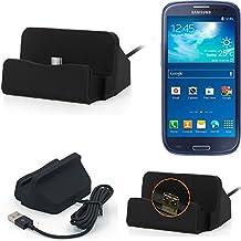 K-S-Trade Base de carga para Samsung Galaxy S3 Neo Micro USB cargador suporto estación de acomplamiento mesa, negro (TM)
