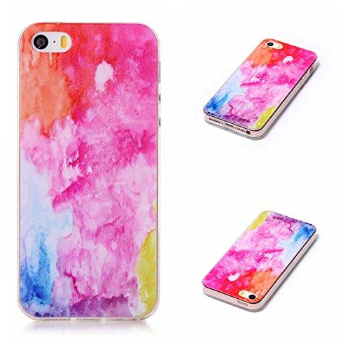 Qiaogle Telefon Case - Weiche TPU Case Silikon Schutzhülle Cover für Apple iPhone 6 / iPhone 6S (4.7 Zoll) - LF08 / Fuck You LF05 / Dazzle Marmor