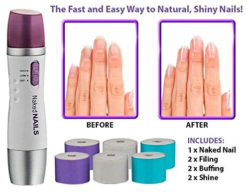 Krevia Nails Electronic Manicure Tool by Finishing Touch Pedicure Buff Shine Care nail brush Set Kit Salon Shaper Manicure Pedicure Kit Trimming